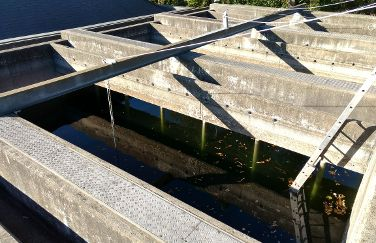 The clarifier beds testing