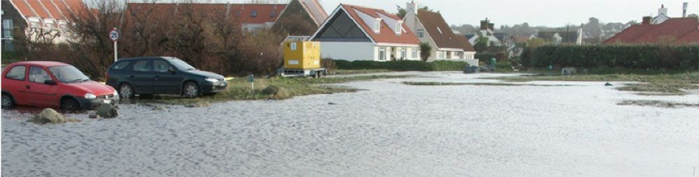 Example of a flood in Guernsey